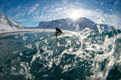 Arctic surfing – in pictures