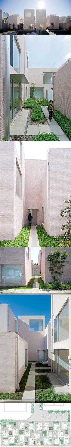 2007 Sanaa - Seijo Town Houses / Tokyo Japan / white / brick / minimalism