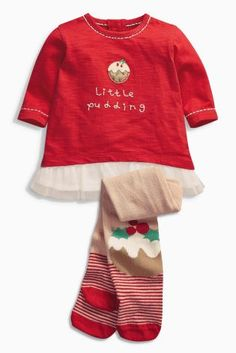 Buy Red Little Pudding Tunic And Tights Set from the Next UK online shop