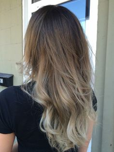 Ashy brown ombre hair