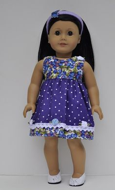 American Girl clothes dress headband shoes by OneGirlsDream