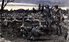 Drawings and watercolours by Henri Antoine from his time of service on the Western Front.