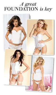 An incredible selection of foundations for the (So I will look a tiny bit trimmer, lol. Wedding Corset, Wedding Attire, Wedding Dresses, Sexy Outfits, Fashion Outfits, Dream Wedding, Wedding Things, Wedding Stuff, Bridal Outfits