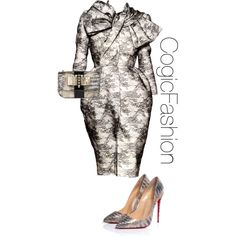 First Lady Karen Clark Sheard by cogic-fashion on Polyvore featuring polyvore, fashion, style and Christian Louboutin