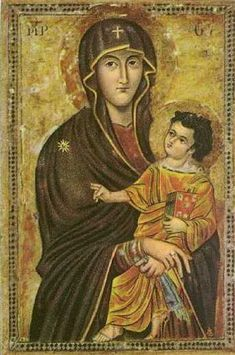 Icon of the Madonna by St. Luke, believed to accurately depict face of Blessed…