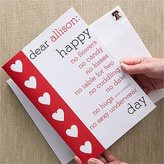 Anti-Love Personalized Oversized Greeting Card - Valentine's Day Gifts - Valentine's Day Gifts