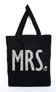 MRS Bride Tote   Bridal Tote Bridal Bag by NobullWomanApparel, $17.50