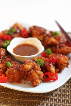Crispy Coconut Chicken Strips with Sweet Chili Sauce - made it using drumsticks and baked in the oven, crispy and yummy!