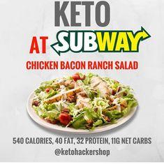 Keto Fast Food and Restaurant Picks! - The Fit Mom Tribe Keto Keto Foods, Keto Diet Fast Food, Healthy Fast Food Restaurants, Keto Fast Food Options, Fast Healthy Meals, Keto Diet Plan, Low Carb Diet, Ketogenic Recipes, Keto Snacks