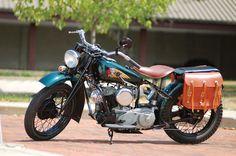 1943 Indian 741 custom bobber