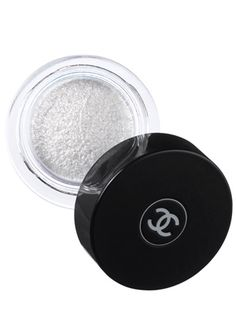 This sparkly white long-lasting Chanel eye shadow looks pretty washed across the lids and can double as highlighter....