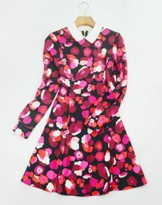 $188 KATE SPADE ROSE FLOWER DRESS WITH LONG SLEEVES