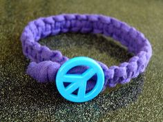 Purple Peace Bracelet Blue Button