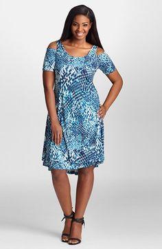 Mynt1792 Cold Shoulder Shift Dress