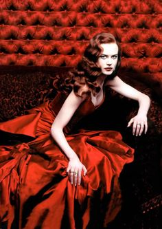 Nicole Kidman  photography by Annie Leibovitz in her costume for Satine in Moulin Rouge.