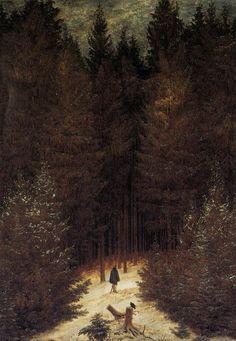 Caspar David Friedrich - The Chasseur in the Forest