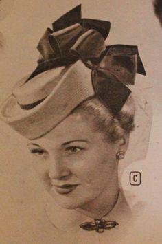 1940s toque hat