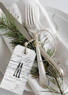 La branche de sapin pour personnaliser la table de fête, christmas diy