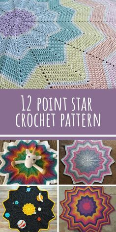 Crochet Afghans Patterns So many different blankets from the same 12 point star crochet blanket pattern! - When we spotted this gorgeous 12 point star crochet blanket we knew we had to share it with you! This baby blanket will make a fabulous shower gift. Crochet Afghans, Crochet Star Blanket, Crochet Star Patterns, Star Baby Blanket, Crochet Ripple, Crochet For Beginners Blanket, Crochet Stars, Manta Crochet, Afghan Crochet Patterns