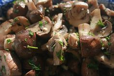 Marinated Mushrooms: These Marinated Mushrooms have a fabulous lemony, garlicky, herby taste to them. We used a Nutricook™ pressure cooker to speed the cooking and concentrate the flavours.