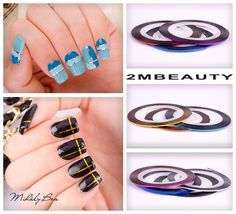 2mbeauty nail decoration with metallic kit