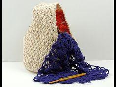 Crochet: Punto Enrejado con Flor en V # 4 - YouTube