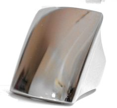 Ladies Cocktail Chunky Silver 7.5 Ring Square Stainless Steel Size 7 O