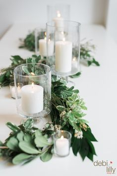 Set the mood with these decorative Debi Lilly™ pedestal vases! Just place your favorite candle in the center, wind a garland between them and you will have a romantic tablescape in no time.