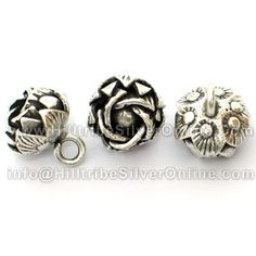 Thai Karen Hill Tribe Silver Charms-Rose Charms