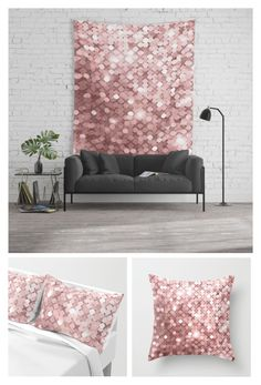 """""""rose gold sequin"""" by zpeale ❤ liked on Polyvore featuring art"""