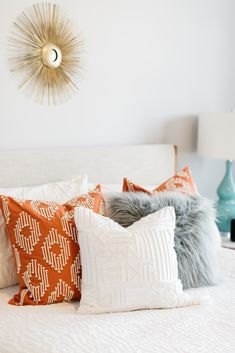 Discovery, Throw Pillows, Patterns, Bed, Home, Block Prints, Toss Pillows, Cushions, Stream Bed