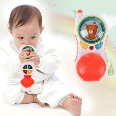 Bebé Kids Learning Estudio de Sonido Musical Teléfono de Juguete Los Niños Juguetes Educativos Para Niños Juguete Teléfonos Móviles Bebés Color Al Azar