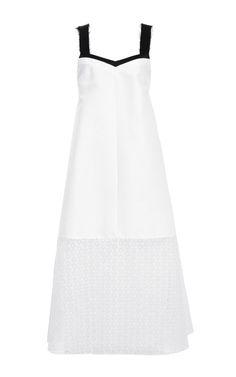 Shop Cotton Silk Twill Trapeze Dress by Peter Som for Preorder on Moda Operandi