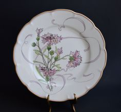 "Haviland Limoges Fleurs et Rubans by Felix Bracquemond Limited Edition Plate ""Ail Sauvage"" by VintageChinaGoods on Etsy"