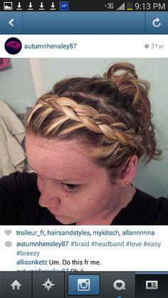 Hair headband done by me :)
