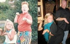 Now and then: Cringeworthy pictures of people recreating photos years later (and they look pounds heavier and a thousand times more awkward) Photo Recreation, Anne Geddes, Childhood Photos, Pictures Of People, Hilarious, Funny, Cringe, Awkward, I Laughed
