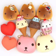 More licensed squishies from Japan have arrived! Cute Kapibarasan, funny Gudetama, Amalka girl, macaron hearts and more! http://www.modes4u.com/en/cute/c255_Squishies.html