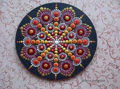 Mandala dot art, fridge magnets, Home Decor, gifts for her, Meditation Mandala, healing Mandala, energy Mandala, painted Mandala