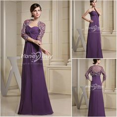 Dresses with jackets  | ... Chiffon Long Purple Wedding Guest Dress With Jacket Wallpaper