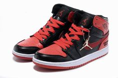Nike Air Jordan 1 Chicago Bulls Custom 2013 Black Red Mens Shoes