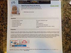 Yogurt Walnut Zucchini bread
