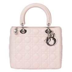 Beautiful Lady Dior in pink leather   From a collection of rare vintage handbags and purses at https://www.1stdibs.com/fashion/accessories/handbags-purses/