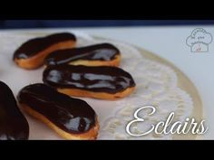 Eclairs | Pastelitos de Crema con Chocolate | Receta que funciona - YouTube Churros, Cream Cake, Cake Pops, Pudding, Tasty, Sweets, Traditional, Vegetables, Breakfast