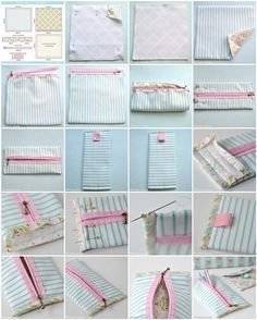 Free Pretty pencil case sewing tutorial #sewing