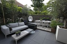 Rooftop Terrace Design, Small Terrace, Rooftop Garden, Outdoor Seating, Outdoor Spaces, Outdoor Living, Outdoor Decor, Backyard Garden Design, Backyard Landscaping