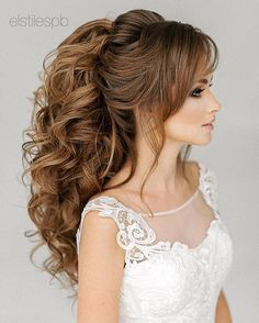 This Breathtaking wedding hairstyles long hair You Can Wear Anywhere - This stunning updos wedding hairstyle for medium length hair is perfect for wedding