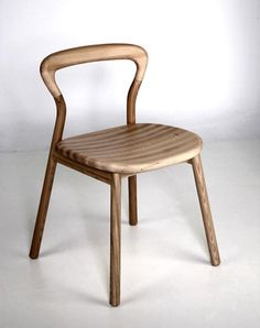 Modern Wooden Chair Called B Curve By Designer Ji Youn Kim