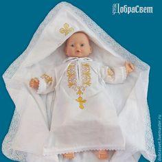 Купить Рубашка для крещения Владимир - белый, крестильная рубашка, рубашка для крещения, крестильный набор