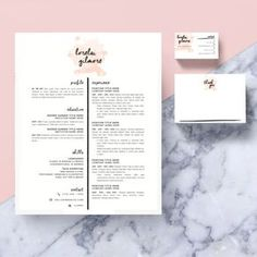 "Resume Template Package | CV Template + Cover Letter + Business Card + Thank You Note for MS Word | Instant Digital Download | The ""Lorelai"""