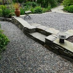 Reasons of Choosing pea gravel patio with landscape borders also landscape design
